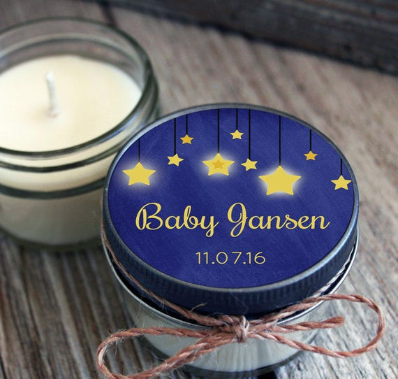 for AmieL - Add Set of 4 - 4 oz Baby Shower Favor Candle- Personalized Baby Shower Favors // Chalkboard Twinkle Little Star Favors