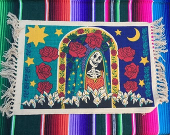 Set of 4 Day of the Dead Placemats - Dia de los Muertos