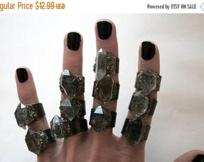 Tibetan Pale Smoky Quartz Crystal Ring - Extra Small Size Crystal