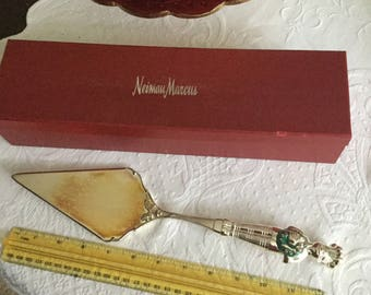 Vintage Newman Marcus Reed and Barton  Silverplate Pie/Cake/Bakery Lifter/Server in Box