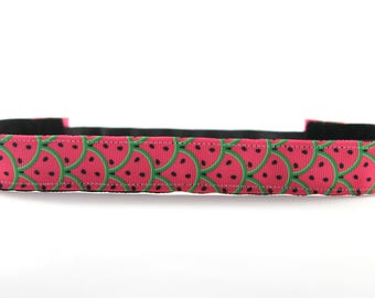 Watermelon NonSlip Headband, Activewear, Fitness Accessory, Workout Headband, Gym Gear, Exercise Headband, Gift for Runners