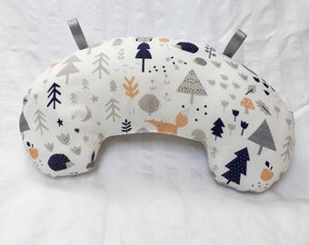 Baby Pillow, Organic, Tummy Time Pillow, Play Mat Pillow, Baby Activity Mat, Nursery Pillow, Baby Accessories, Infant Pillow, Woodland