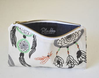 Zipper Pouch: Dream Catcher Makeup Case, Clutch Purse, Vegan Wallet, Pencil Case, Zip Pouch, Bag, Organizer