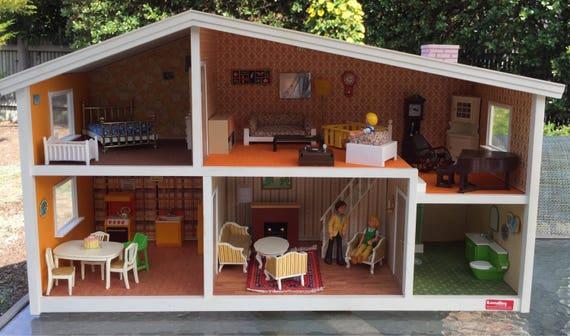 Like this item. Lundby of Sweden Gothenburg mid century modern dollhouse