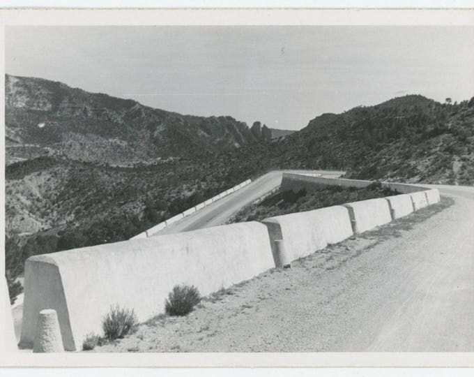 Vintage Snapshot Photo: Mountain Switchback (81636)