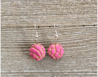 Pink Concha Pan Dulce Earrings