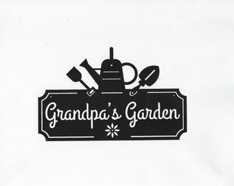 Grandpa, Garden, Metal Sign, Grandparent, Garden Sign