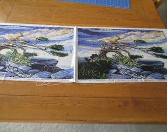 Quilting Weight Cotton Fabric Artican Spirit Art Spirit Dreamscape Digital by Ira Kennedy for Northcott 2 panels