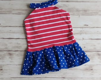 Girls Patriotic Kids Top, Red White and Blue Shirt, Baby's First 4th, 4th of July Top, Independence Shirt, High-neck Shirt, Toddler Shirt