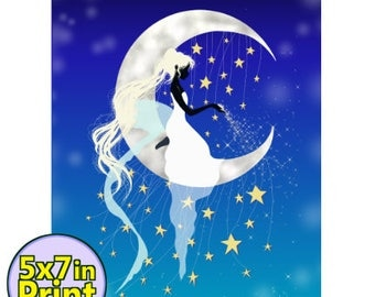 Moon Maiden  Print 5x7