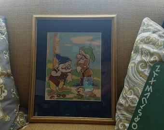 Walt Disney Productions, vintage, picture, framed,