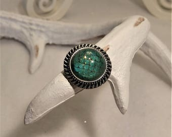 Turquoise sparkly Mermaid bubble rings