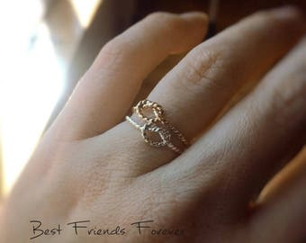 SALE Knot Rings, Knot Rings, Rope Knot Rings, BFF Rings, Best Friends Jewelry, Gift For Friends, Remember Rings, Never Forget, BFF, Eternity