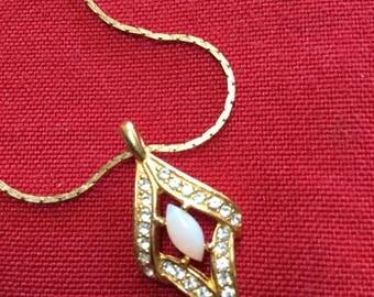Vintage Faux Opal Necklace
