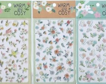 Japanese / Korean Sticker (Pick 1)  - Warm and Cosy flower