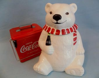 1994 COCA-COLA Polar Bear Cookie Jar * Authentic Collectible Coca-Cola Memorabilia * COKE * Mint Condition