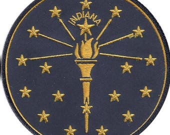 Indiana State Flag Iron-On Patch