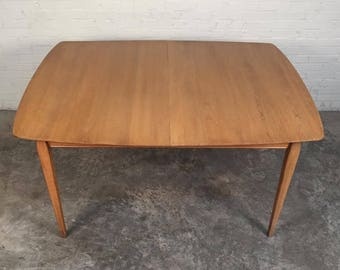 Mid Century Modern Dining Table W 1 Extension Pads By Davis Cabinet