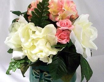 Shelf Floral Decor, Table Top Flowers, Small Arrangement, Floral Centerpiece,  Flower Arrangement