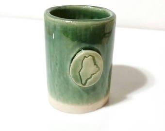 Maine Shotglass, Single Shotglass, Ceramic Espresso Cup, Bridal Party Gift