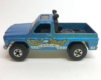 HOT WHEELS Bywayman Eagle Metallic Blue Truck Pickup Chevy Vtg 1983 Loose BW