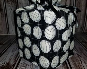 Homemade volleyball design fabric tissue box cover