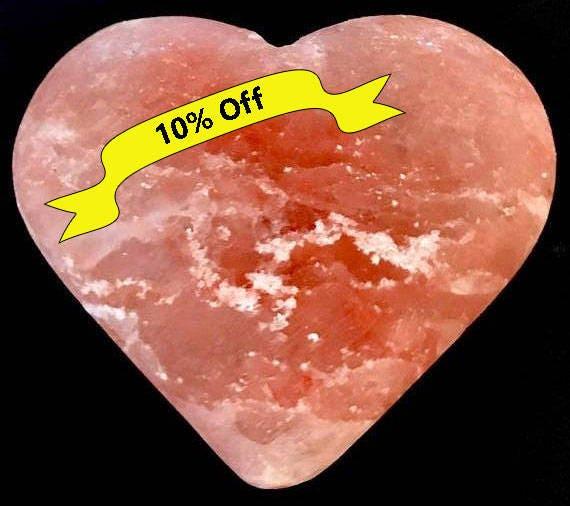 Genuine Himalayan Salt, Heart, Pink, Orange, Home Decor, Office Decor, Paperweight, Natural, Hand Sanitizer, Deodorant, Raw Crystals