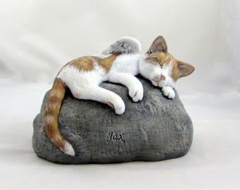 Ceramic Engraved/Customized Painted Cat Grave Marker - hand made, customized, indoor or outdoor