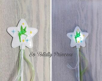 Light up Tinkerbell inspired fairy wand/princess wand/Fairy wand/play/pretend