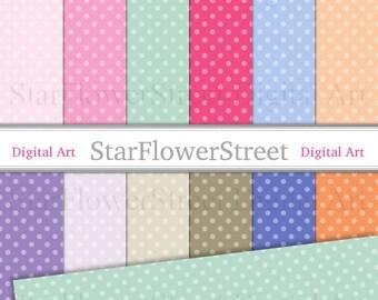 Polka Dot digital scrapbook paper dot pink polka dot paper pattern overlay digital party girl background  spring summer