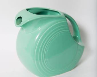 Homer Laughlin Original Fiesta Light Green Water Disk Pitcher 1930s Ceramic Fiesta Ware Seafoam China