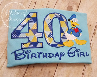 Disney-Inspired Duck Birthday Shirt - 16th - 21st - 40th - 50th - 60th - Custom Birthday Tee 578