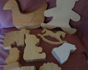 Craft Supplies - Wood Shapes