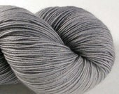 SALE Hand Dyed Fingering Yarn - Boffo - Harry's Gray