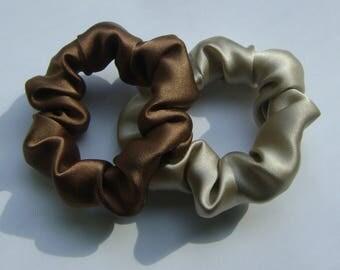 Silk Hair Scrunchies, 2 for 16.00