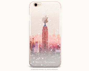 NYC Christmas iPhone X Case iPhone 8 Case iPhone 7 Case GRIP Rubber Case iPhone 7 Plus Clear Case iPhone SE Case Samsung S8 Case U333
