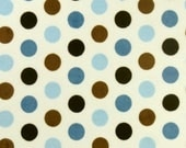 Blue Brown Dot Toddler Blanket