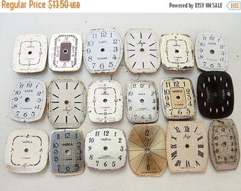 ON SALE Small Watch Faces - set of 18 - c132