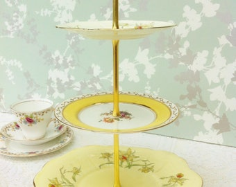 Daffodil  3 Tier Cake Stand