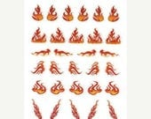 Fathers Day Sale Flame Scrapbooking Stickers/ Nail Decals