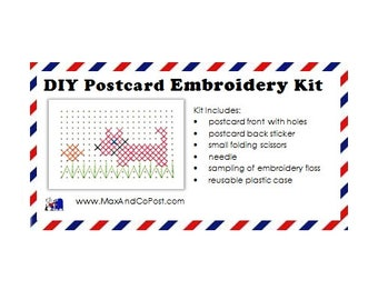DIY Embroidery Postcard Kit
