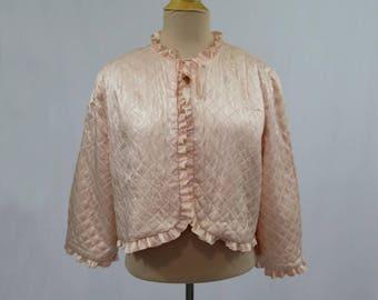 Pink Quilted Jacket, Bedjacket