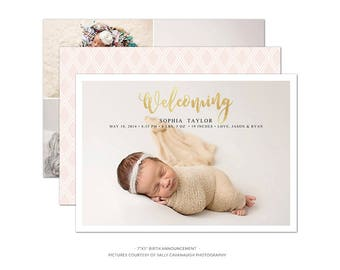 BA3 :. Birth Announcement template | Sweet welcome