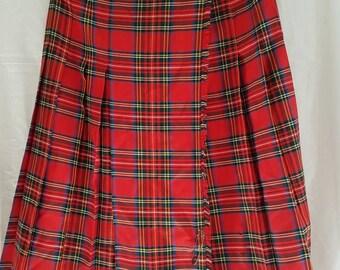 Vintage Delta tartan summer skirt- made in Australia size 12