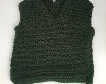 Green baby vest   Etsy