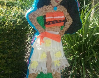 Moana inspired party pinata  - FREE pullstrings add on
