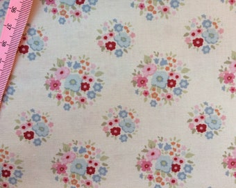 Tilda Thula Red Pink Fabric  / Sweetheart Collection - Fat Quarter / 50 cm x 55 cm