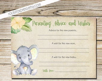 Elephant Yellow Shower, Parenting Advice and Wishes, Digital File, Printable _1302