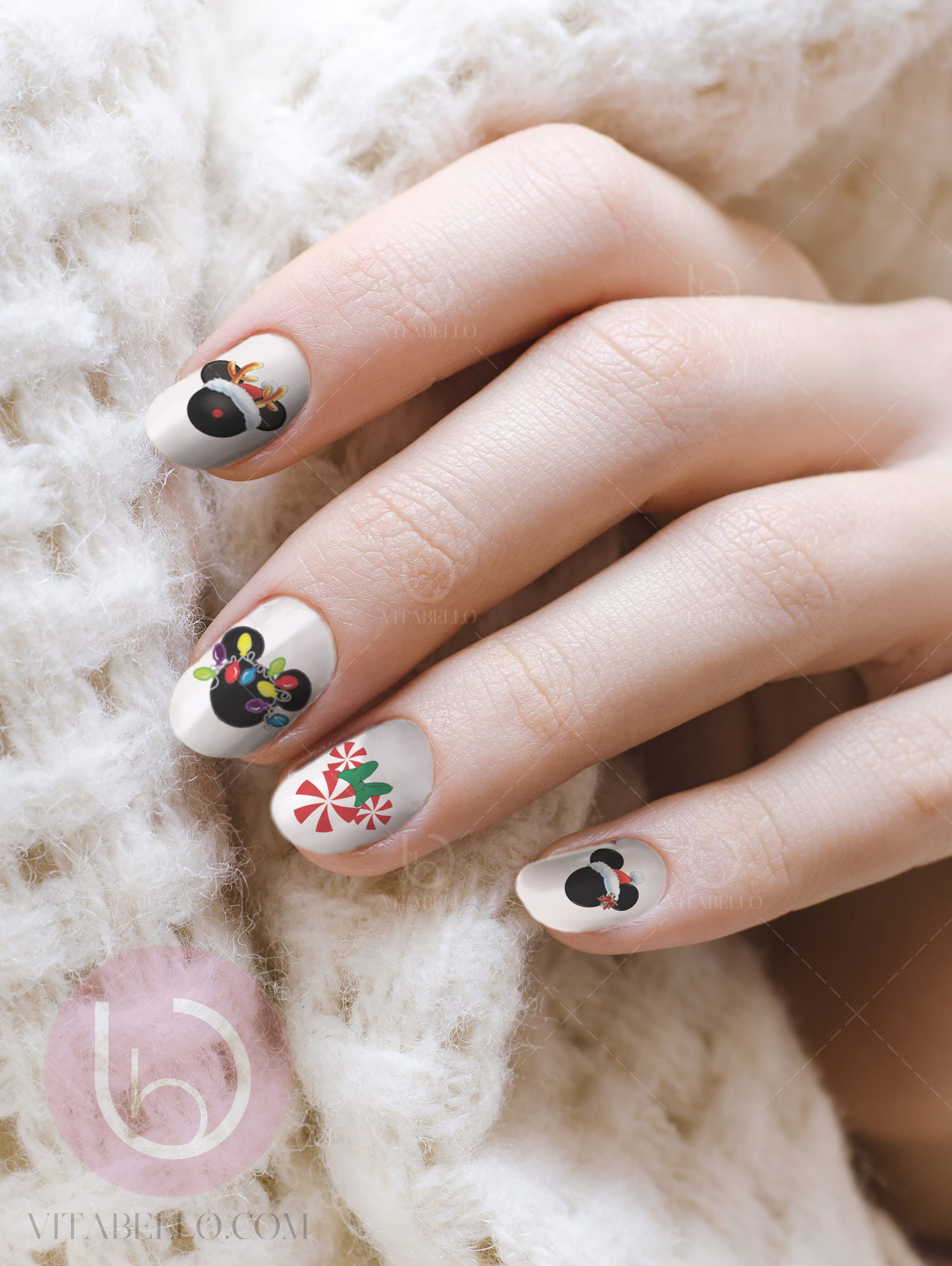 Disney christmas mickey water nail decal nail design nails zoom prinsesfo Image collections