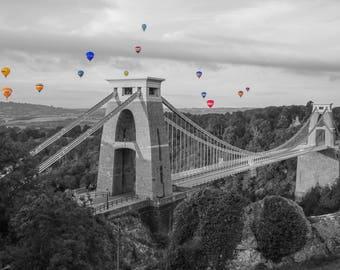 Colorsplash, Coloursplahs, Hot Air Balloons, Clifton Suspension Bridge, Bristol Balloon Fiesta, Bristol, UK, Fine Art Photography, Balloons